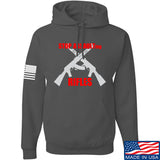 AP2020 Outdoors Stop Assault.... Rifles Hoodie Hoodies Small / Charcoal by Ballistic Ink - Made in America USA