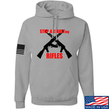 AP2020 Outdoors Stop Assault.... Rifles Hoodie Hoodies Small / Light Grey by Ballistic Ink - Made in America USA