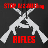 AP2020 Outdoors Stop Assault.... Rifles Hoodie Hoodies [variant_title] by Ballistic Ink - Made in America USA