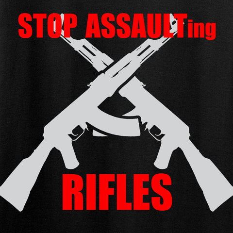 AP2020 Outdoors Stop Assault.... Rifles T-Shirt T-Shirts [variant_title] by Ballistic Ink - Made in America USA