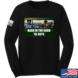 AP2020 Outdoors The Good 'Ol Days Long Sleeve T-Shirt Long Sleeve Small / Black by Ballistic Ink - Made in America USA