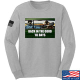 AP2020 Outdoors The Good 'Ol Days Long Sleeve T-Shirt Long Sleeve Small / Light Grey by Ballistic Ink - Made in America USA