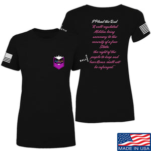 American Gun Chic Ladies I Plead the 2nd T-Shirt T-Shirts SMALL / Black by Ballistic Ink - Made in America USA