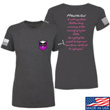 American Gun Chic Ladies I Plead the 2nd T-Shirt T-Shirts SMALL / Charcoal by Ballistic Ink - Made in America USA