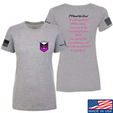 American Gun Chic Ladies I Plead the 2nd T-Shirt T-Shirts SMALL / Light Grey by Ballistic Ink - Made in America USA