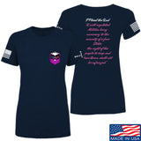 American Gun Chic Ladies I Plead the 2nd T-Shirt T-Shirts SMALL / Navy by Ballistic Ink - Made in America USA