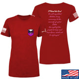 American Gun Chic Ladies I Plead the 2nd T-Shirt T-Shirts SMALL / Red by Ballistic Ink - Made in America USA