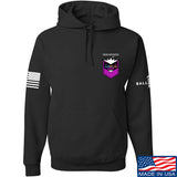 American Gun Chic American Gun Chic Badge Chest Logo Hoodie Hoodies Small / Black by Ballistic Ink - Made in America USA