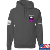 American Gun Chic American Gun Chic Badge Chest Logo Hoodie Hoodies Small / Charcoal by Ballistic Ink - Made in America USA