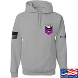 American Gun Chic American Gun Chic Badge Chest Logo Hoodie Hoodies Small / Light Grey by Ballistic Ink - Made in America USA