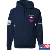 American Gun Chic American Gun Chic Badge Chest Logo Hoodie Hoodies Small / Navy by Ballistic Ink - Made in America USA