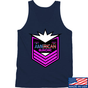 American Gun Chic American Gun Chic Badge Logo Tank Tanks SMALL / White by Ballistic Ink - Made in America USA