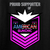 American Gun Chic American Gun Chic Badge Chest Logo T-Shirt T-Shirts [variant_title] by Ballistic Ink - Made in America USA