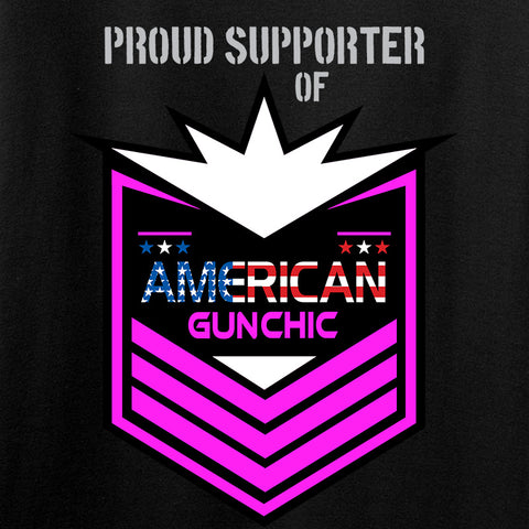American Gun Chic American Gun Chic Badge Chest Logo Hoodie Hoodies [variant_title] by Ballistic Ink - Made in America USA