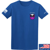 American Gun Chic American Gun Chic Badge Chest Logo T-Shirt T-Shirts Small / Blue by Ballistic Ink - Made in America USA