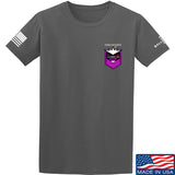 American Gun Chic American Gun Chic Badge Chest Logo T-Shirt T-Shirts Small / Charcoal by Ballistic Ink - Made in America USA