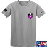 American Gun Chic American Gun Chic Badge Chest Logo T-Shirt T-Shirts Small / Light Grey by Ballistic Ink - Made in America USA