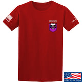 American Gun Chic American Gun Chic Badge Chest Logo T-Shirt T-Shirts Small / Red by Ballistic Ink - Made in America USA