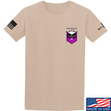 American Gun Chic American Gun Chic Badge Chest Logo T-Shirt T-Shirts Small / Sand by Ballistic Ink - Made in America USA