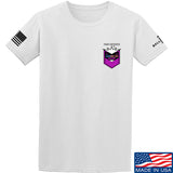 American Gun Chic American Gun Chic Badge Chest Logo T-Shirt T-Shirts Small / White by Ballistic Ink - Made in America USA