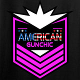 American Gun Chic Ladies American Gun Chic Badge Chest Logo T-Shirt T-Shirts [variant_title] by Ballistic Ink - Made in America USA
