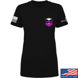 American Gun Chic Ladies American Gun Chic Badge Chest Logo T-Shirt T-Shirts SMALL / Black by Ballistic Ink - Made in America USA