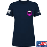 American Gun Chic Ladies American Gun Chic Badge Chest Logo T-Shirt T-Shirts SMALL / Navy by Ballistic Ink - Made in America USA