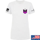 American Gun Chic Ladies American Gun Chic Badge Chest Logo T-Shirt T-Shirts SMALL / White by Ballistic Ink - Made in America USA