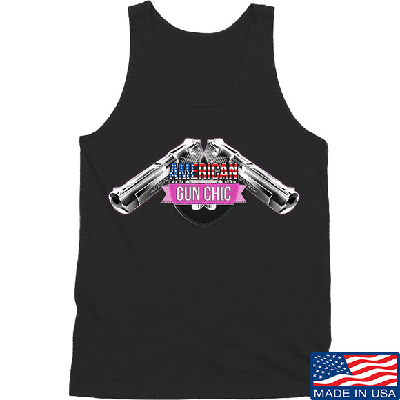 American Gun Chic American Gun Chic Logo Tank Tanks SMALL / Black by Ballistic Ink - Made in America USA