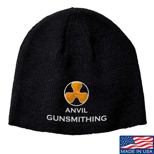 Anvil Gunsmithing Anvil Gunsmithing Logo Beanie Headwear Black by Ballistic Ink - Made in America USA