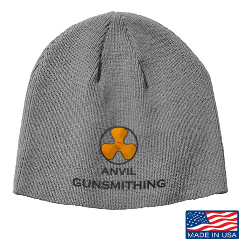 Anvil Gunsmithing Anvil Gunsmithing Logo Beanie Headwear Grey by Ballistic Ink - Made in America USA