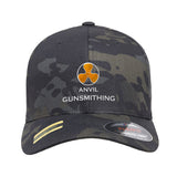 Anvil Gunsmithing Anvil Gunsmithing Logo Flexfit® Multicam® Trucker Cap Headwear Black Multicam S/M by Ballistic Ink - Made in America USA