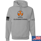 Anvil Gunsmithing Anvil Gunsmithing Logo Hoodie Hoodies Small / Light Grey by Ballistic Ink - Made in America USA