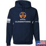 Anvil Gunsmithing Anvil Gunsmithing Logo Hoodie Hoodies Small / Navy by Ballistic Ink - Made in America USA