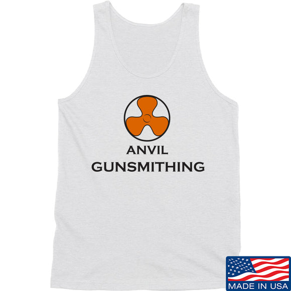 Anvil Gunsmithing Anvil Gunsmithing Logo Tank Tanks SMALL / White by Ballistic Ink - Made in America USA