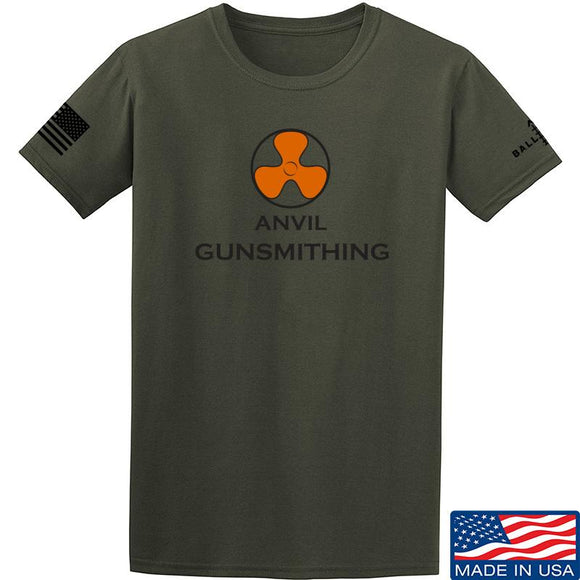 Anvil Gunsmithing Anvil Gunsmithing Logo T-Shirt T-Shirts Small / Military Green by Ballistic Ink - Made in America USA
