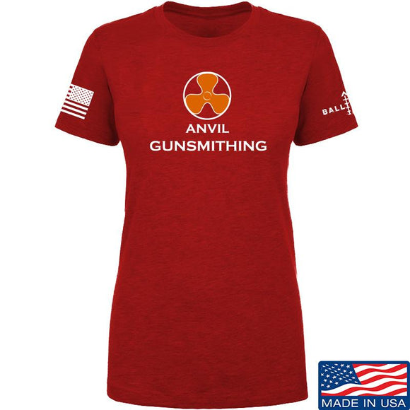 Anvil Gunsmithing Ladies Anvil Gunsmithing Logo T-Shirt T-Shirts SMALL / Red by Ballistic Ink - Made in America USA