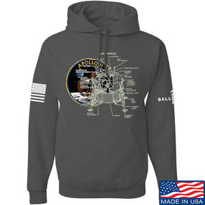 9mmsmg Apollo Lunar Tech Hoodie Hoodies Small / Light Grey by Ballistic Ink - Made in America USA