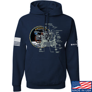 22plinkster Apollo Lunar Tech Hoodie Hoodies Small / Light Grey by Ballistic Ink - Made in America USA