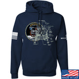 Ballistic Ink Apollo Lunar Tech Hoodie Hoodies Small / Navy by Ballistic Ink - Made in America USA