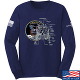 Ballistic Ink Apollo Lunar Tech Long Sleeve T-Shirt Long Sleeve Small / Navy by Ballistic Ink - Made in America USA