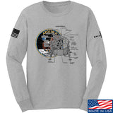 Ballistic Ink Apollo Lunar Tech Long Sleeve T-Shirt Long Sleeve Small / Light Grey by Ballistic Ink - Made in America USA