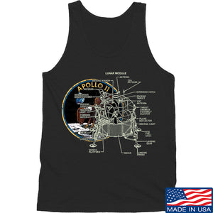 Ballistic Ink Apollo Lunar Tech Tank Tanks SMALL / Charcoal by Ballistic Ink - Made in America USA