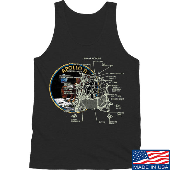 Ballistic Ink Apollo Lunar Tech Tank Tanks SMALL / Black by Ballistic Ink - Made in America USA