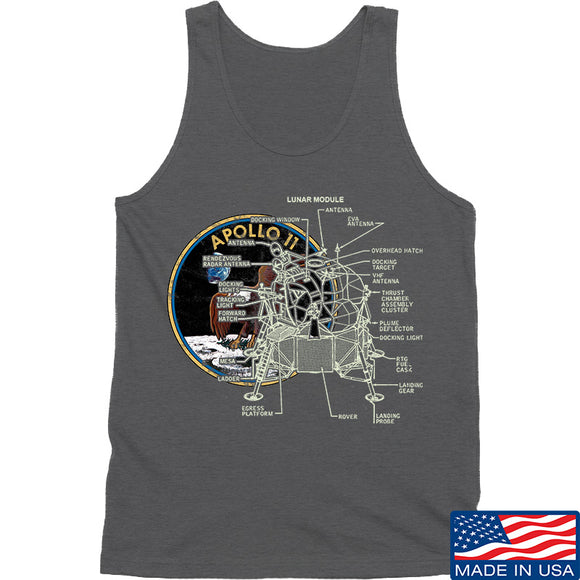 22plinkster Apollo Lunar Tech Tank Tanks SMALL / Charcoal by Ballistic Ink - Made in America USA