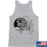 Ballistic Ink Apollo Lunar Tech Tank Tanks SMALL / Light Grey by Ballistic Ink - Made in America USA