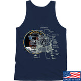 Ballistic Ink Apollo Lunar Tech Tank Tanks SMALL / Navy by Ballistic Ink - Made in America USA
