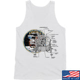 Ballistic Ink Apollo Lunar Tech Tank Tanks SMALL / White by Ballistic Ink - Made in America USA