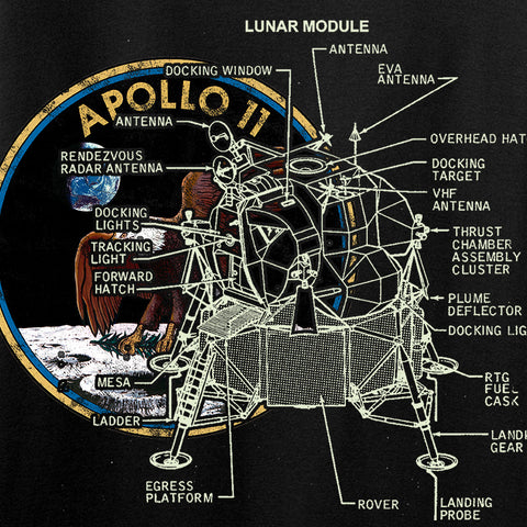 Ballistic Ink Apollo Lunar Tech Long Sleeve T-Shirt Long Sleeve [variant_title] by Ballistic Ink - Made in America USA
