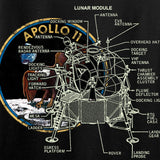 22plinkster Apollo Lunar Tech T-Shirt T-Shirts [variant_title] by Ballistic Ink - Made in America USA